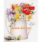 Flowers In Watering Pitcher  - #AOR100  -  PRINT