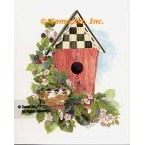 Birdhouse With Babies  - #AOR111  -  PRINT