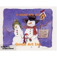 Snowman Family  - #AOR115  -  PRINT
