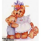 Teddy Bear Family  - #AOR116  -  PRINT