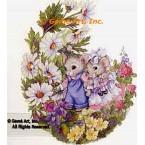 Flower Garden Stroll  - #AOR121  -  PRINT