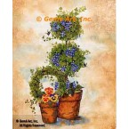 Pansy Topiary  - #AOR126  -  PRINT