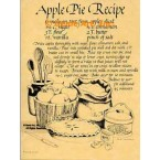 Apple Pie Recipe  - #AOR57  -  PRINT