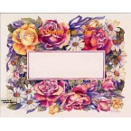 Roses & Daisy Rectangle Shape  - #AOR160  -  PRINT