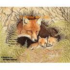 Fox Family  - #BOR3  -  PRINT