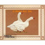 Geese On Brown  - #BOR34  -  PRINT