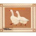 Geese On Brown  - #BOR35  -  PRINT