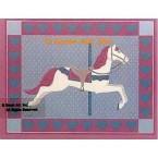 Carousel Horse  - #BOR39  -  PRINT