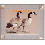 Country Geese  - #BOR45  -  PRINT