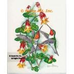 Ruby-Throated Hummingbirds  - #COR110  -  PRINT