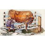 Guernsey Dairy Cow  - #COR17  -  PRINT