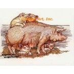 Pigs  - #COR45  -  PRINT
