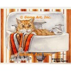 Cat in Sink  - #COR88  -  PRINT