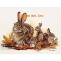 Rabbits At Autumn  - #COR90  -  PRINT