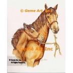 Horses  - COR94  -  PRINT