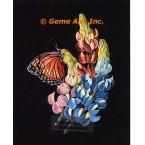 Butterfly & Flowers  - #ZOR1014  -  PRINT
