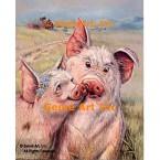 Pigs In Love  - #ZOR304  -  PRINT