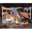 Mama & Kittens  - #ZOR314  -  PRINT