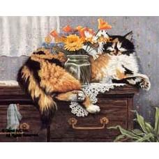 Careful Cat  - ZOR316  -  PRINT