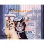 Cats & Toilet Paper  - #ZOR327  -  PRINT