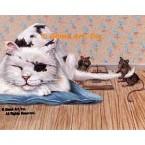 Cat & Mice  - #ZOR334  -  PRINT