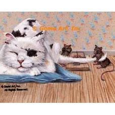 Cat & Mice  - ZOR334  -  PRINT