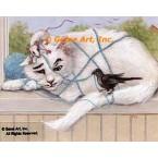 Cat, Mice, & Bird  - #ZOR335  -  PRINT