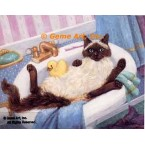 Cat In Sink  - #ZOR341  -  PRINT