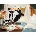 When Cow Meets Bessie  - ZOR344  -  PRINT