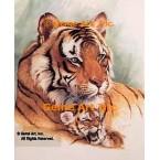 Tiger & Cub  - #ROR408  -  PRINT