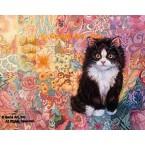 Quilt Cat  - #ROR410  -  PRINT