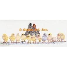Hen & Chicks  - #MOR709  -  PRINT