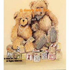 Teddy Bears & Blocks  - #MOR724  -  PRINT