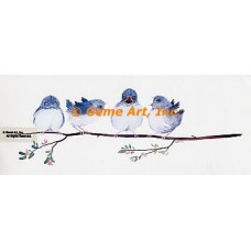 Squawking Birds  - #MOR727  -  PRINT
