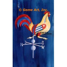 Rooster Weathervane  - #MOR730  -  PRINT