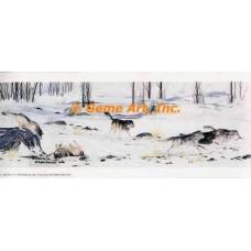 Playful Wolves  - #MOR706  -  PRINT