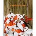 Snow Covered Pumpkins  - #MOR630  -  PRINT