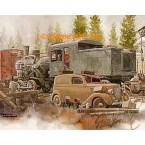 1923 Two Truck Heisler, 1936 Ford Sedan Delivery  - #GOR101  -  PRINT