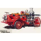 1891 Seagrave Steam Pumper, 1918 Seagrave Power Unit  - #GOR21  -  PRINT