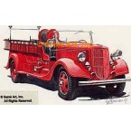 1936 Ford Fire Truck  - #GOR22  -  PRINT
