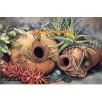 Southwest Pots - Cacti-Pepper  - LOR502  -  PRINT