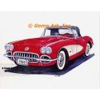 1960 Corvette Convertible Roadster  - #MOR302  -  PRINT