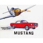 P-51 Mustang (Aircraft), 1964 1/2-65 Mustang Convertible Coupe  - #MOR304  -  PRINT