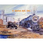 Train & Car  - #MOR306  -  PRINT