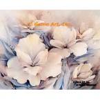Peach and Blue  - #ROR601  -  PRINT