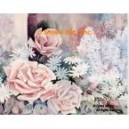 Pink Roses & Daisies  - #ROR604  -  PRINT