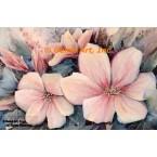 Pink Flowers  - #ROR609  -  PRINT