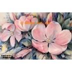 Pink Flowers  - #ROR610  -  PRINT