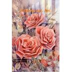 Pink Roses  - #ROR611  -  PRINT