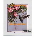 Hummingbird with Fuchsia  - ROR103  -  PRINT